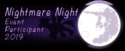 Nightmare Night Participant 2019