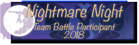 Nightmare Night Participant 2018