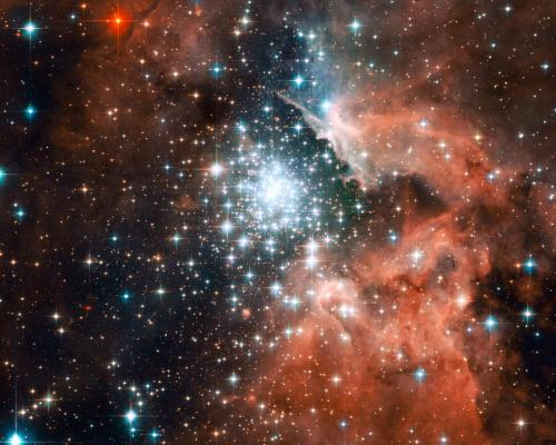 Hubble captures star cluster