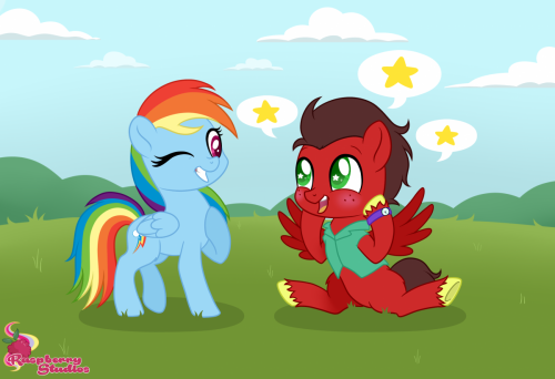 Meeting Rainbow Dash!